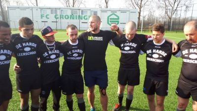 Team with in the middle coach Dirk Danen